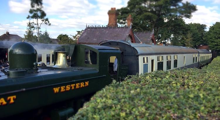 Stream train at Chinnor, UK