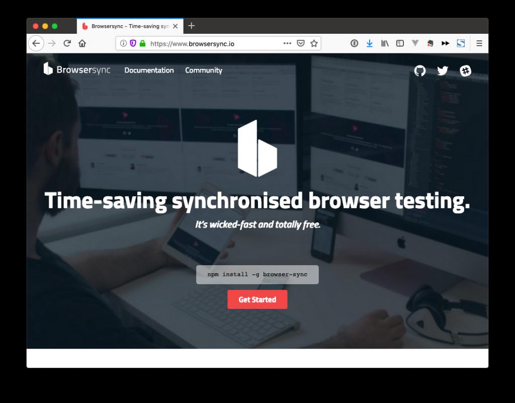 Madison : Browsersync npm